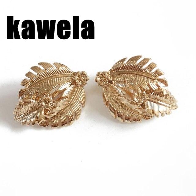 40b1900d0 Free Shipping Gold Plating Cute Leaf Earring Clip-in Clip Earrings ...