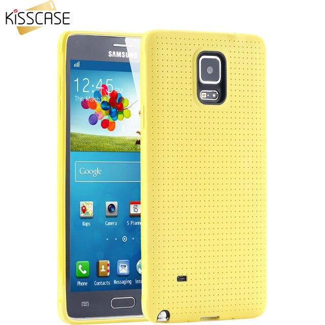 KISSCASE Mobile Bolsas Móvil Casos Para Galaxy Note 4 para Trabajo Pesado Protección de La contraportada Para Samsung Galaxy Note 4 Caso Durable cubierta
