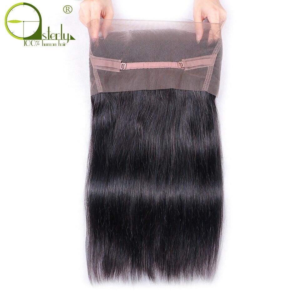 Бразильские прямые волосы sметоды 360, Фронтальная застежка на шнуровке с детскими волосами, человеческие волосы без повреждений, свободная ...