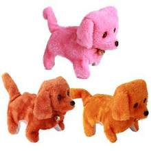 Walking Barking Toy Funny Electric Short Floss Dog Toys Electric Dog Moving Dog(China)