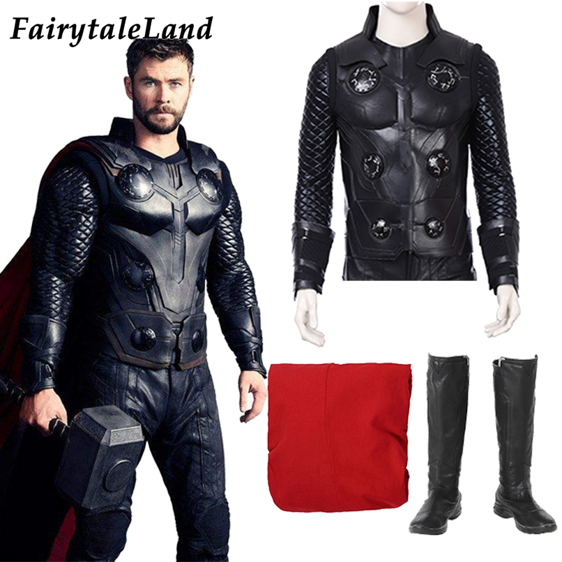 New Original The Avengers Age of Ultron Thor Odinson Cosplay Costume Customized