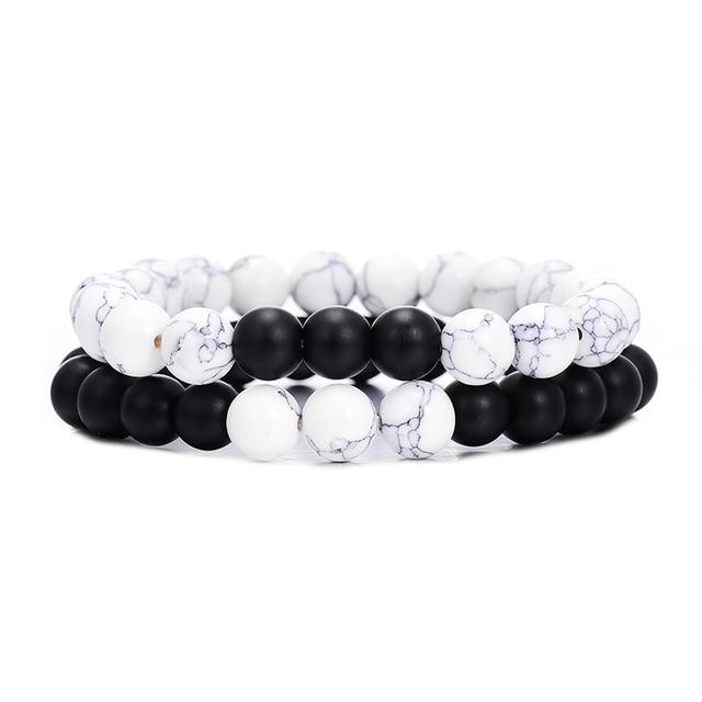 2Pcs/Set Beaded Bracelets...
