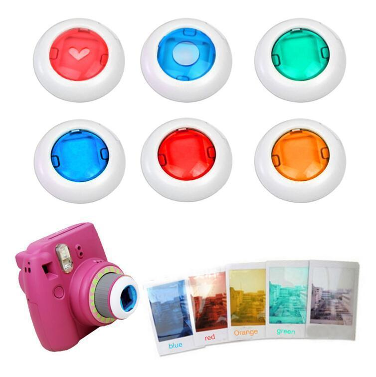 Gosear 6Pcs Colorful Camcorder Close-up Colored Lens Filter for Fujifilm Instax Mini 9 8 8 7S KT Instant Film Cameras