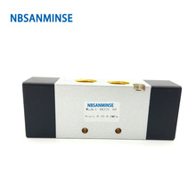 NBSANMINSE 4A310 4A320 4A330 1/4 3/8 Pneumatic Control Air Valve AIRTAC  Type Two Position Five Way Three Position Five Way free shipping airtac 5 way pneumatic air hand lever operated valve 4h210 08 port 1 4 bsp manual control valves