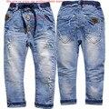 3970 regular jeans meninos calças jeans primavera outono crianças calças de brim das crianças calças moda novo muito bom pequeno buraco