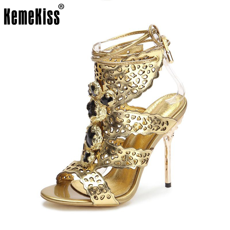 women real genuine leather stiletto gladiator high heel sandals brand sexy fashion heeled ladies sandals shoes size 35-40 R08565 size 35 42 women s platform high heel shoes stiletto brand quality heeled pumps ladies fashion sexy gladiator shoes r08753