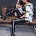 XXL Европейский Горячий Продавать Сексуальные Большие Женщины Плюс Размер PU Леггинсы Тонкий Эластичный Jeggings Для Негабаритных Женские Леггинсы Тонкий