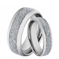 Tungsten Carbide Rings for Men Women Wedding Engagement Band Promise Meteorite 8mm 6mm Couple Rings Size 6 13 2 Pcs a Set