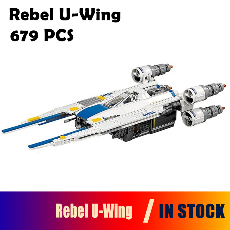 Model Building Blocks 679pcs Genuine Star War Series The Rebel U-Wing Fighter Bricks Toys Compatible with lego 75155 05054 конструктор lepin star plan истребитель повстанцев u wing 679 дет 05054