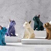 Geometric Dog Silicone Mold Aromatherapy Plaster Mould Car Home Decoration Bulldog DIY Clay Gypsum Molds