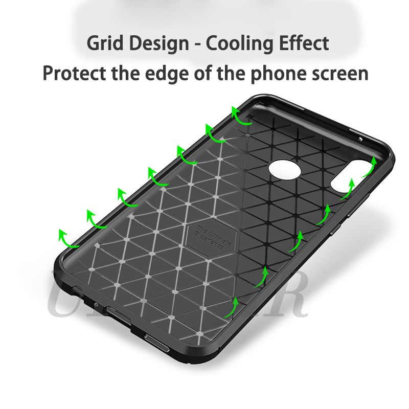 Чехол для телефона huawei P Smart 2019 чехол Honor 8C 8X Max чехол из углеродного волокна противоударный мягкий силиконовый чехол s для huawei Y9 2019