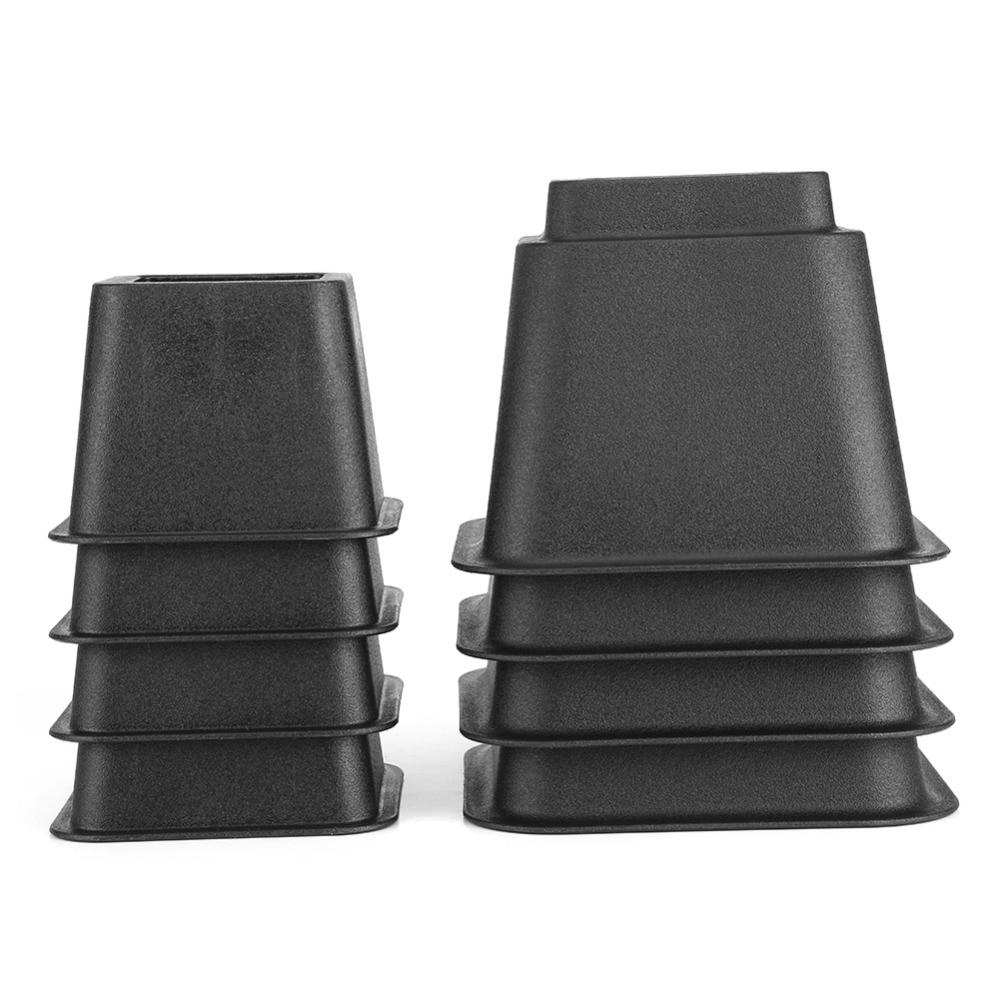8pcs Bed Risers Set Chair Furniture Legs Elephant Furniture Table Wood Leg Floor Feet Cap Cover Protector