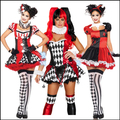 2015 New Arrival 14 Styles Sexy Women Halloween Costume Classic Adult Harley Quinn Cosplay Costume