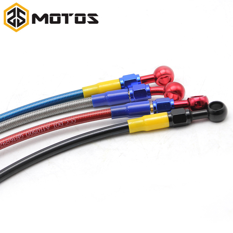 ZS MOTOS 500mm-1200mm Colorful Motorcycle M10 Hydraulic Reinforced Brake Or Clutch Oil Hose Line Pipe Fit ATV Dirt Pit Bike motoo motorcycle adelin hydraulic reinforced brake or clutch oil hose line pipe 850mm 950mm 1100mm