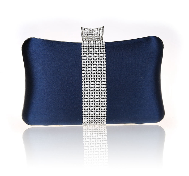 2019 High Quality Navy Blue Ladies Wedding Evening Bag Clutch handbag Bride Party Purse Mini Makeup Bag Mujer Bolso 03860