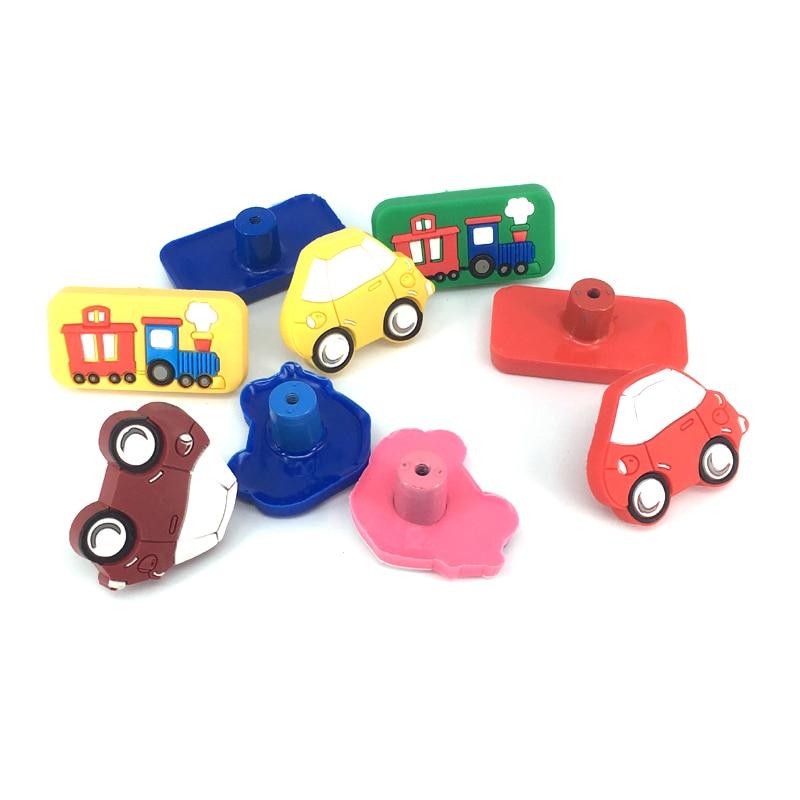 Купить с кэшбэком 1x Decorative Drawers Pulls / Dresser Knobs / Chest Knobs for Kids and Nursery Rooms Safe Rubber material
