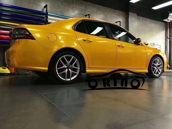 Newest High Quality Ultra Glossy Metallic Vinyl Film Yellow Car Paint Gloss Metal Wrap Film With Air Bubble Free ORINO WRAPPING