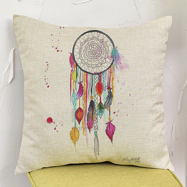 Colorful Dream Catcher Cushion Cotton Linen Indian Style Woven Interesting Indian Style Decorative Pillows