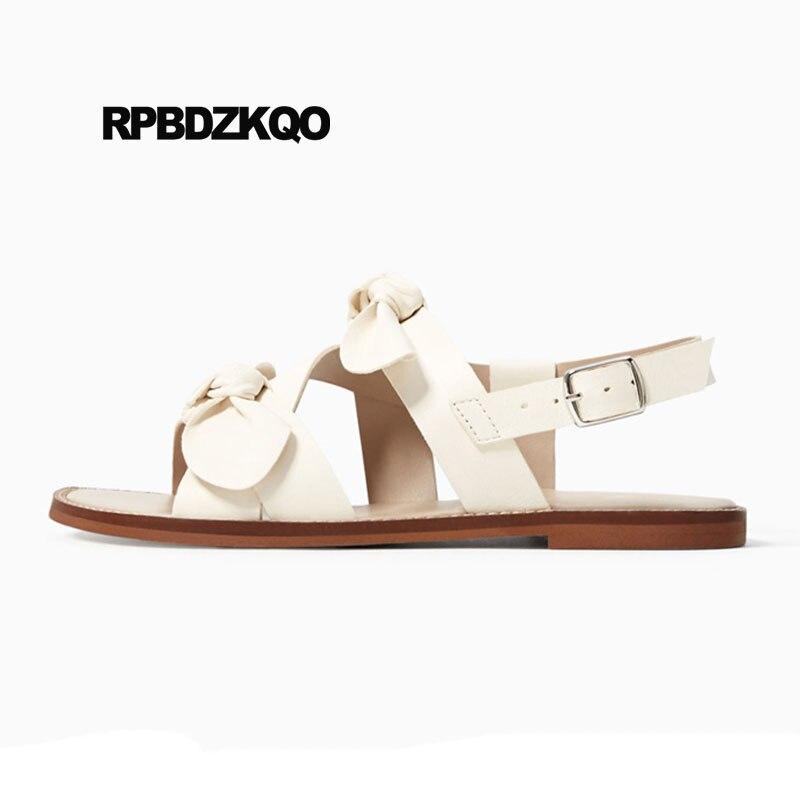 Nice Slingback White Cute Women Sandals Flat Summer 2018 ...
