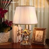Современные хрустальные настольные лампы 100% K9 кристалл настольные лампы Одежда высшего качества Спальня прикроватные лампы Abajur cristal Спаль
