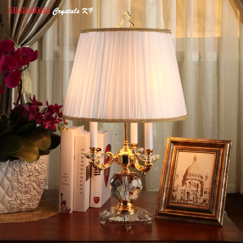 Modern crystal Table Lamps 100% K9 Crystal Table Desk Lamp Top Quality Bedroom Bedside Lamps Abajur cristal bedroom lights minimalist warm bedroom beside k9 crystal table lamps luxury living room study desk lamps modern clear gray crystal table lamp
