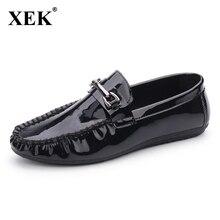 Los hombres de los Holgazanes Hombres de Charol zapatos Casuales resbalón de Moda Cómoda zapatos de Conducción de Los Hombres zapatos planos de La Gota libre ST54