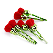 CREEZE New Design 6pcs Rose Shaped Makeup Brushes Foundation Powder Make Up Brushes  Blush Brush Set Green/Red Pincel Maquiagem