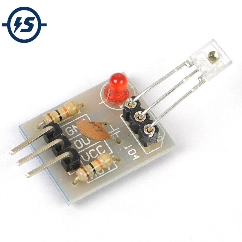5 pcs Laser Récepteur Capteur Module Non-Modulateur Tube Laser Capteur Module Relais Commutateur Haute Niveau Bas Niveau pour arduino 5 v