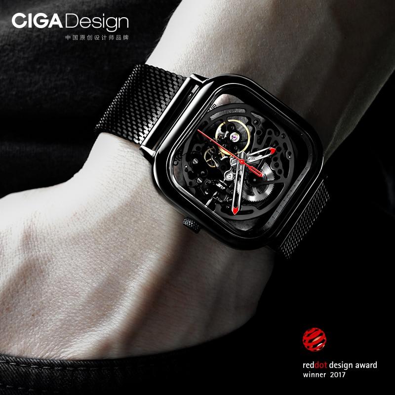 Xiao mi mi jia mi CIGA conception évidé montre-bracelet mécanique montre Reddot Winner inoxydable mode luxe montres automatiques - 4