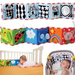 Baby Spielzeug Krippe Stoßfänger Newbron Tuch Buch Infant Rasseln Wissen Um Multi-Touch Bunte Bett Stoßstange Baby Spielzeug 0 -12 monate