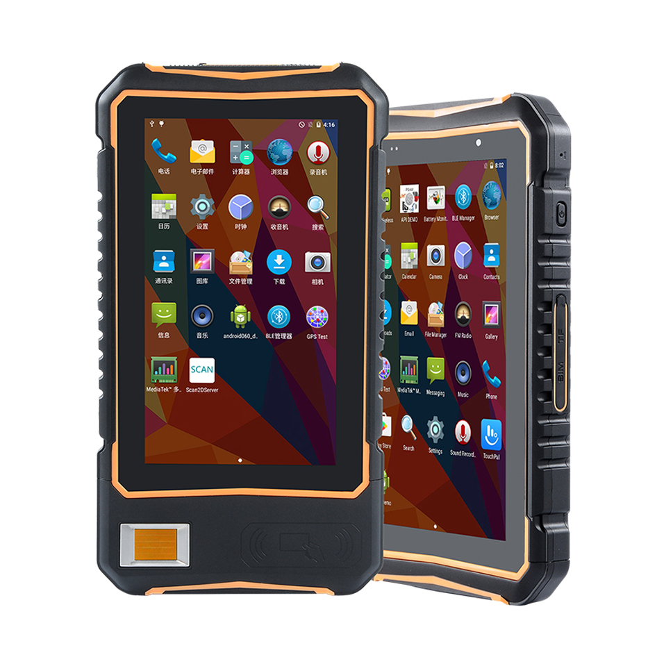 Rugged Android 7 0 OS New 7 Inch Touch Screen Tablet UHF RFID HF RFID Reader