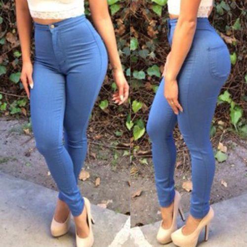 22015 Sexy Women Fashion High Waisted Jeans Soft Skinny Stretchy Pants Slim  Jeggings free shipping en Pantalones vaqueros de La ropa de las mujeres en  ... de64f6c522f8