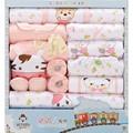 18 pcs conjunto de roupas de Bebê unissex roupas de bebê roupas de inverno roupas de bebê menina infantil pijamas do bebê dom conjunto de roupas de bebe TZ35