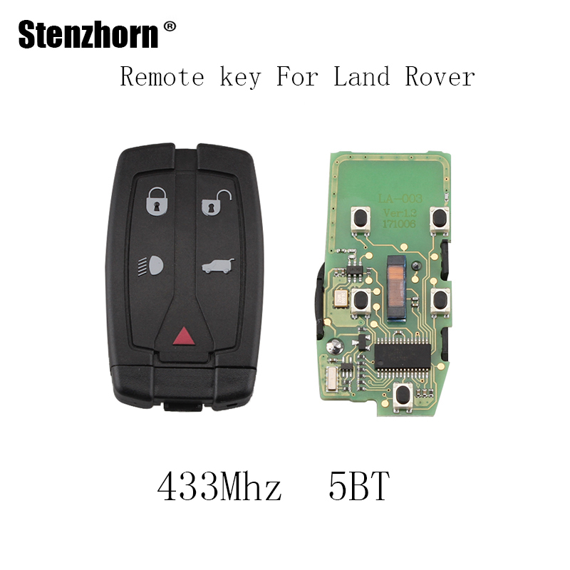 Stenzhorn 5BT 433Mhz Smart Remote Key Keyless Fob For Land Rover Freelander 2 LR2 Sport 2008 2009 2010 2011 2012 Original keys big discount 1 piece 4 1 button remote key card with 433mhz for land rover freelander 2 2006 2007 2008 2009 2010