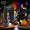 Star wars anakin skywalker cosplay botas anime sapatos flim