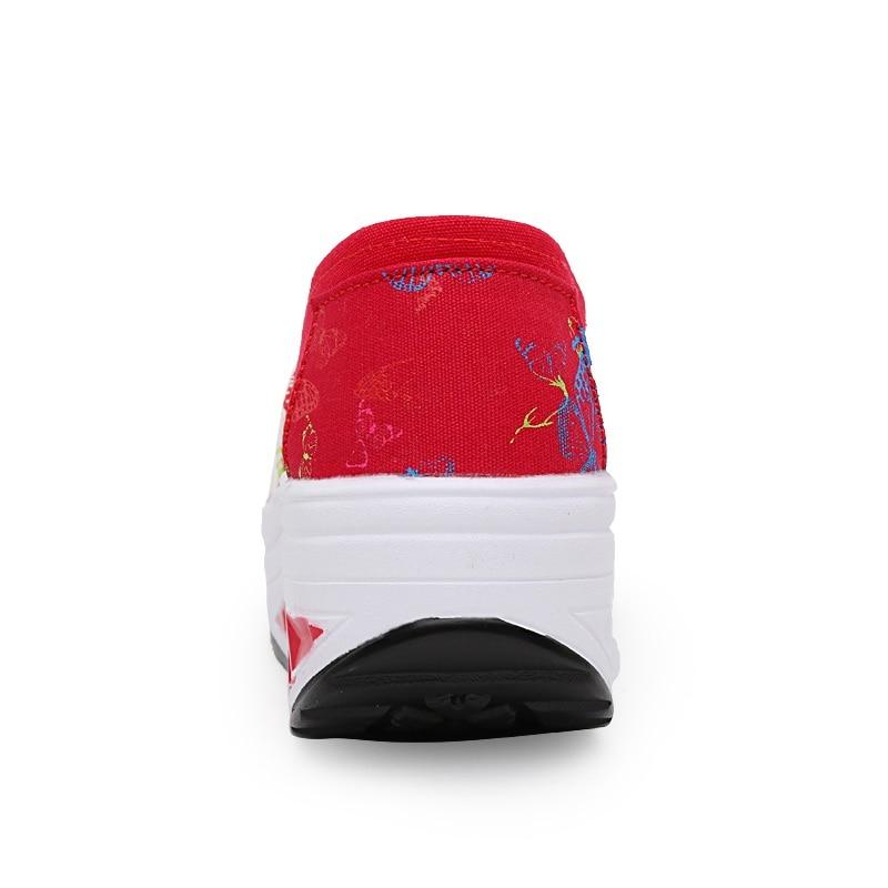 rouge Pour blanc bleu Femme Dames Casual De Formateurs Air forme Noir Mujer Zapatos Plate Chaussures Respirant Battantes Compensées Chaussure Toile Femmes pwHwqRvg