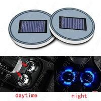 Solar Energy Cup Holder Bottom Pad LED Light Cover Trim For LEXUS All models