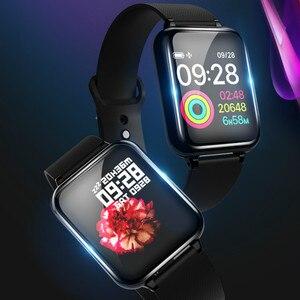Image 5 - Смарт Браслет фитнес часы умный Браслет кровяное давление измерение сердечного ритма Водонепроницаемая повязка на руку большой цветной сенсорный