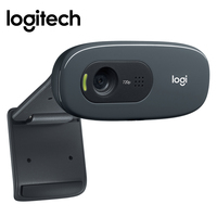 Logitech C270 HD Video 720P Webcam Built in Micphone USB2.0 Mini Computer Camera for PC Laptop OEM Package for PC Laptop Video