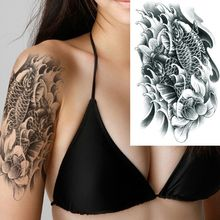 Temporary Carp Tattoo Stickers Body Arm Leg Art Waterproof Tattoo Stickers