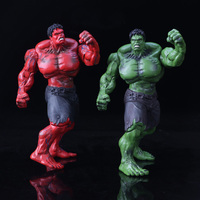 Marvel's The Avengers Red & Green Hulk Pvc Action Figure Toy Cartoon Hulk Display Model Jouet Children Birthday Gift Brinquedos