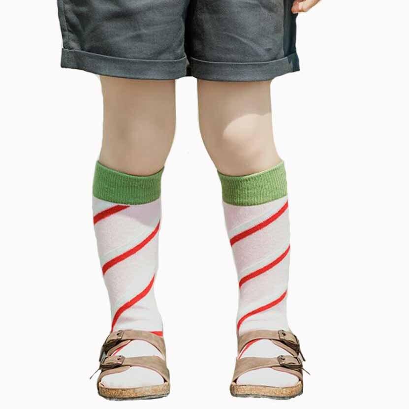 2 Pairs Pack New Children Strip Cotton Stockings Boys -3671