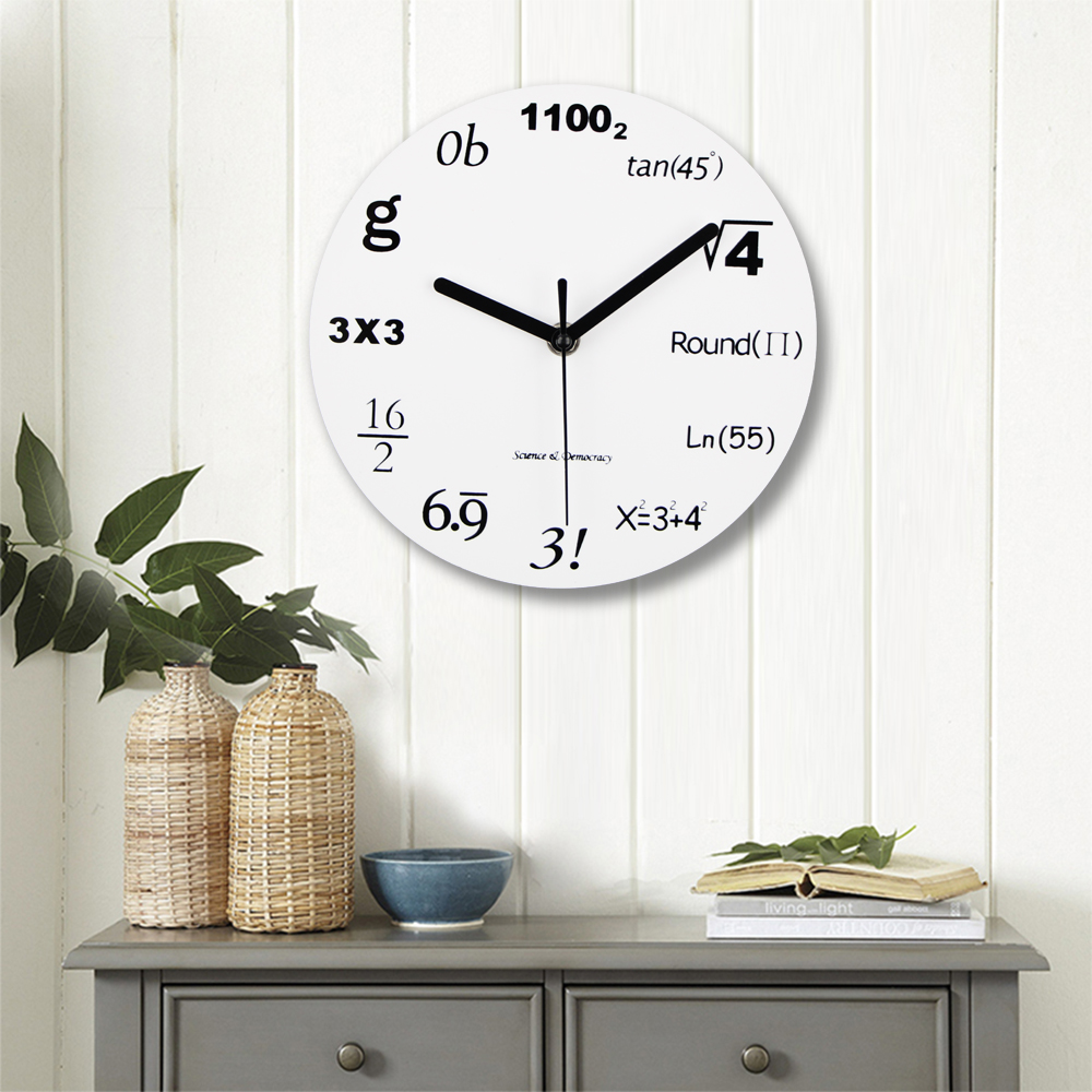 2019 Fashion Acrylic Wall Clock Modern Design Novelty Maths Equation Clock Horloge Art Wall Watch Relogio De Parede Home Decor