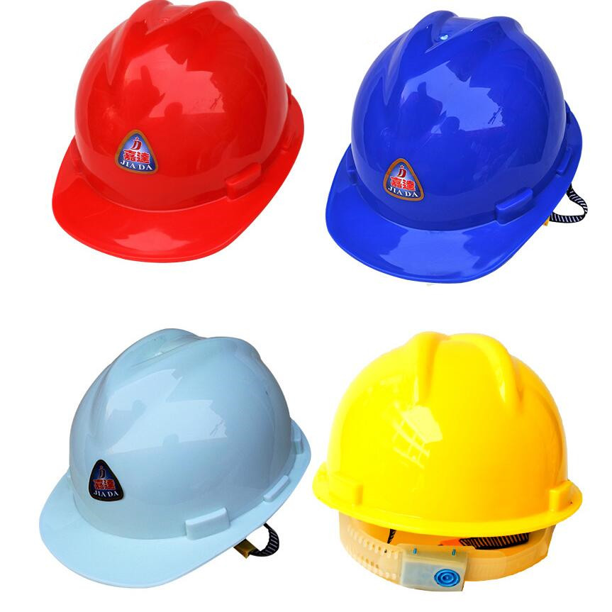 HDPE plastic V type safety helmet Construction site New plastic helmet Site engineering hat helmets Workpace Helmet for sale in Safety Helmet from Security Protection