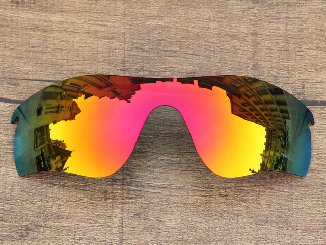 Polycarbonate-Fire Red Mirror Replacement Lenses For RadarLock Path Sunglasses Frame 100% UVA & UVB Protection