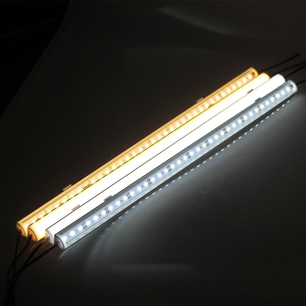 5 шт. * 50 см V Алюминий профиль DC12V угол стены светодиодный бар свет 5730 36 светодиодный V форма Угловой светодиодный Жесткий полосы света Кабине...