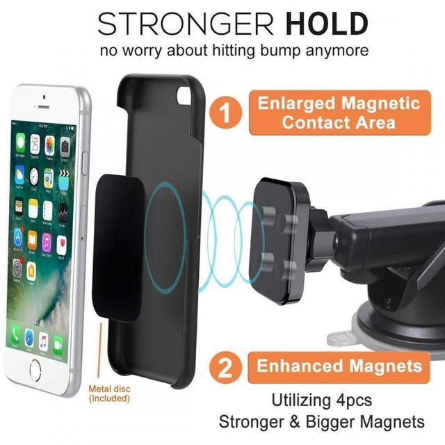 XMXCZKJ Dash support de montage de pare-brise de voiture magnétique support de téléphone portable support de bras Long pour Iphone XR support de téléphone magnétique pour Mi8