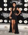 Selena gomez mtv video music awards negro vestidos de encaje de cuello alto gasa vestidos de la celebridad 2017 sin mangas vestidos a line sexy