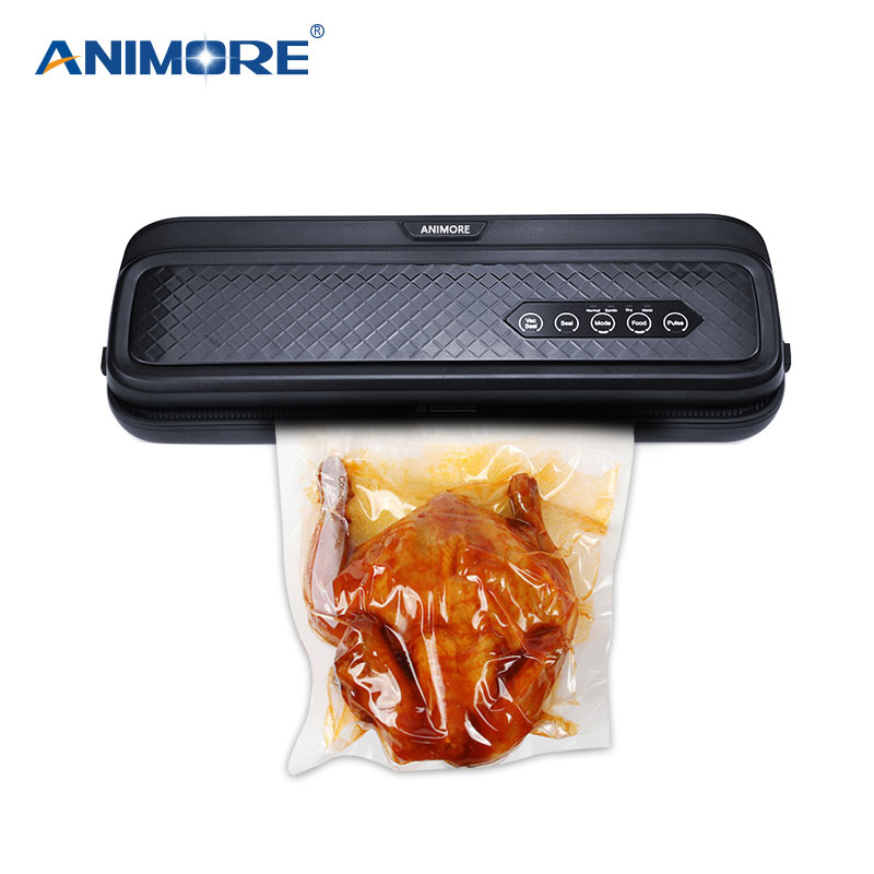 ANIMORE Food Vacuum Sealer Machine With 10pcs Bags Free 220V/110V For Food Saver Home Electric Vacuum Sealer Packaging Machine white dolphin vacuum food sealer 110v 220v electric household mini food vacuum sealer packaging machine with 10pcs storage bags