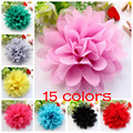 20pcs/lot 11cm 17 Colors Hot Sale Solid satin Lace Flower For Girl Hair Accessories Artificial Fabric Flowers For Headbands